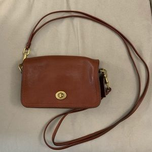 Coach Vintage Leather Brown Cross-body